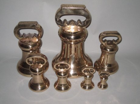 SET OF SEVEN IMPERIAL WEIGHTS FOR CUMBERLAND. 1855 - Click to enlarge and for full details.