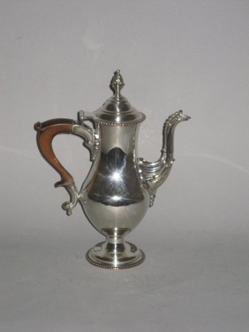 RARE SMALL OLD SHEFFIELD PLATE SILVER COFFEE POT. CIRCA 1770 - Click to enlarge and for full details.