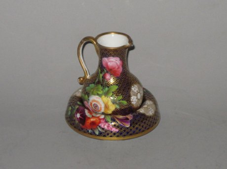 SPODE PORCELAIN JUG AND STAND.  - Click to enlarge and for full details.