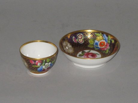 SPODE MINIATURE TEABOWL & SAUCER. CIRCA 1815 - Click to enlarge and for full details.
