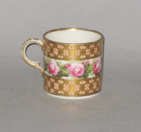 DERBY COFFEE CAN BY WILLIAM BILLINGSLEY. CIRCA 1790 - Click to enlarge and for full details.