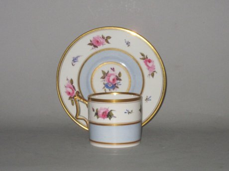 FLIGHT BARR & BARR WORCESTER CAN & SAUCER. CIRCA 1810. - Click to enlarge and for full details.