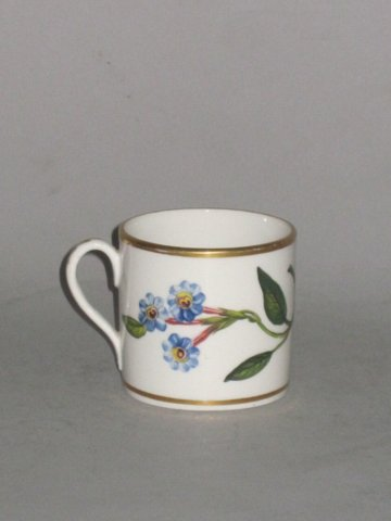 COALPORT BOTANICAL COFFEE CAN, CIRCA 1812-15 - Click to enlarge and for full details.