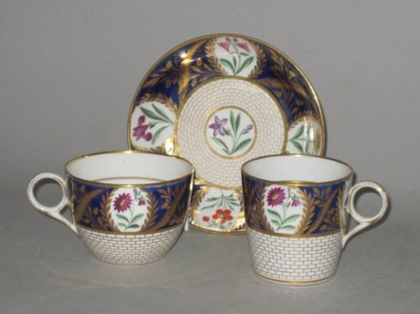 CHAMBERLAINS WORCESTER TRIO, CIRCA 1820 - Click to enlarge and for full details.