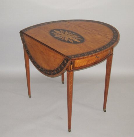 18TH CENTURY SATINWOOD PEMBROKE TABLE, CIRCA 1775 - Click to enlarge and for full details.