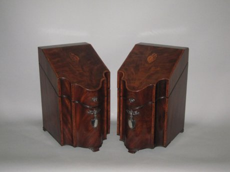 FINE PAIR OF MAHOGANY KNIFE BOXES, CIRCA 1790 - Click to enlarge and for full details.