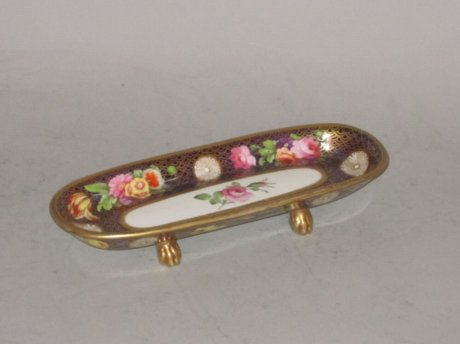 Spode porcelain pen tray. Circa1815. - Click to enlarge and for full details.