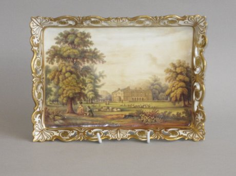 WORCESTER PORCELAIN TRAY. POSSIBLY GRAINGERS. CIRCA 1830 - Click to enlarge and for full details.