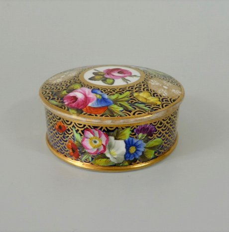 SPODE LIDDED BOX, PATTERN 1166 - Click to enlarge and for full details.