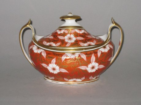 SPODE SUCRIER & COVER, CIRCA 1810. - Click to enlarge and for full details.