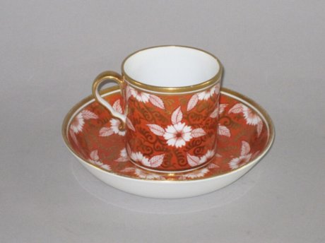 SPODE CAN & SAUCER, CIRCA 1810. - Click to enlarge and for full details.