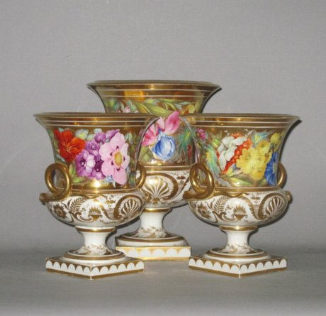 TRIO OF DERBY VASES, CIRCA 1815 - Click to enlarge and for full details.