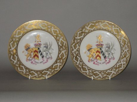 FINE PAIR CHAMBERLAIN'S WORCESTER PLATES, CIRCA 1807 - Click to enlarge and for full details.