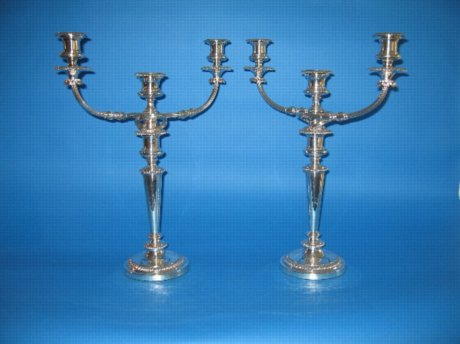 Pair of Mathew Boulton Candelabra - Click to enlarge and for full details.