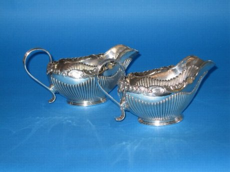 A Rare pair of Old Sheffield Sauce boats - Click to enlarge and for full details.