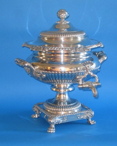 A superb Regency Period Tea Urn by Mathew Boulton - Click to enlarge and for full details.