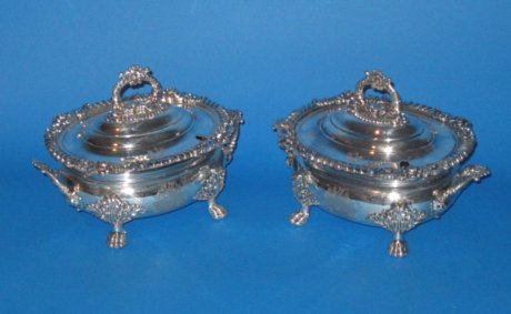 Pair of Regency Period Sauce Tureens - Click to enlarge and for full details.