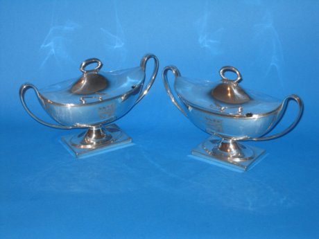 Pair of Late 18th Century Sauce Tureens - Click to enlarge and for full details.