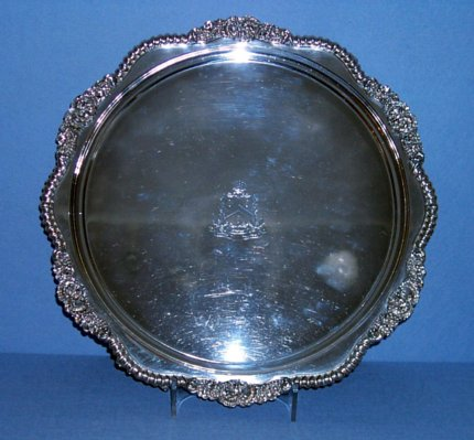 Regency Old Sheffield Plate Salver - Click to enlarge and for full details.