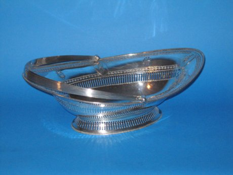 18th Century Old Sheffield Plate cake/bread basket - Click to enlarge and for full details.