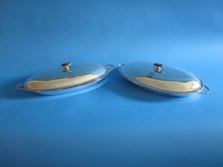 Rare pair of 18th Century Hash Dishes - Click to enlarge and for full details.