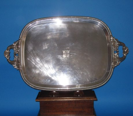 Regency Period Old Sheffield Plate Tea Tray - Click to enlarge and for full details.