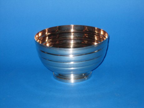 Old Sheffield Plate Bowl wit Silvergit interior - Click to enlarge and for full details.