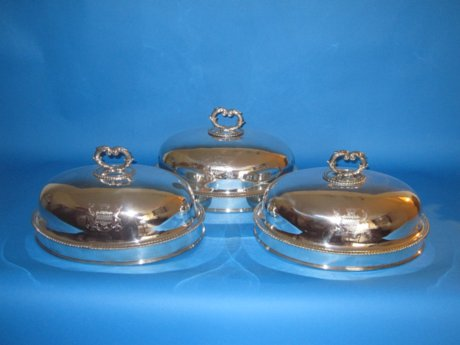 Suite of six Old Sheffield dish covers, Lord Cornwallis - Click to enlarge and for full details.