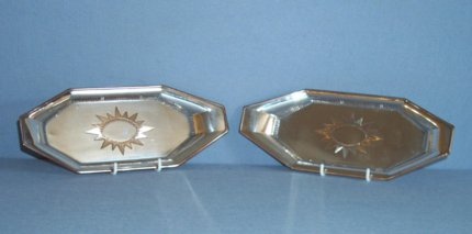 Pair of early 19th Century OSP snuffer trays. - Click to enlarge and for full details.