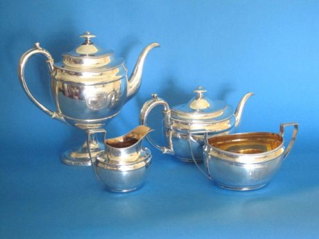 Georgian four piece tea & coffee service - Click to enlarge and for full details.