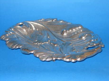 Unusual Regency period leaf pattern dish - Click to enlarge and for full details.