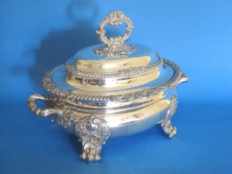 Regency period soup tureen & cover - Click to enlarge and for full details.
