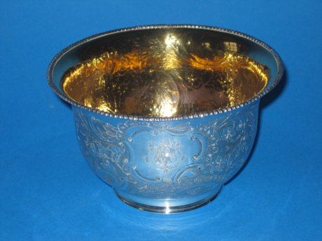 Fine George III Old Sheffield Plate Silver Bowl with Gilt interior - Click to enlarge and for full details.