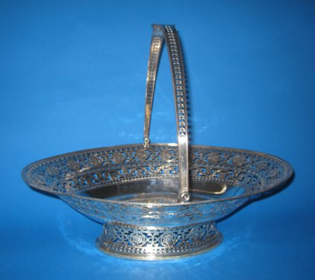 Late 18th CenturyOld Sheffield Silver Bread or cake Basket - Click to enlarge and for full details.