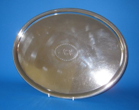 Late 18th Century Old Sheffield Silver Salver - Click to enlarge and for full details.