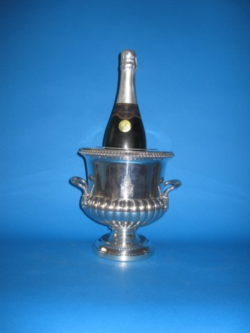 Georgian Old Sheffield silver wine cooler - Click to enlarge and for full details.