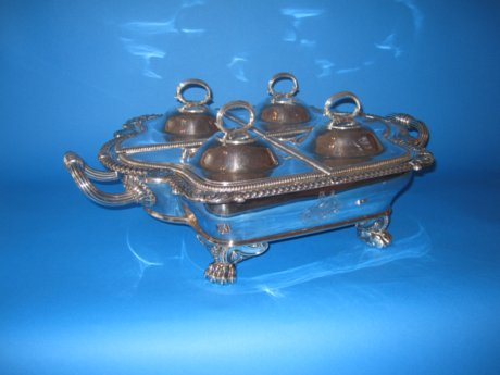 Old Sheffield Silver Supper dish, circa  1825 - Click to enlarge and for full details.