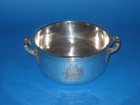 Old Sheffield Plate silver soufle Dish, circa 1815 - Click to enlarge and for full details.
