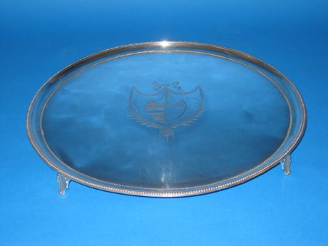 Late 18th Century Salver, circa 1785 - Click to enlarge and for full details.