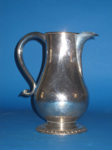 Rare First period Old Sheffield Plate Beer/wine jug, circa 1775 - Click to enlarge and for full details.