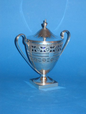 18th Century Old Sheffield silver Sugar vase. - Click to enlarge and for full details.