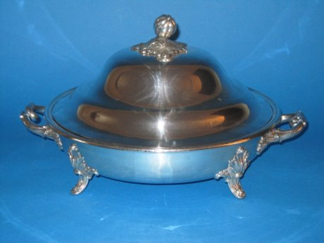 Regency old Sheffield silver serving dish - Click to enlarge and for full details.