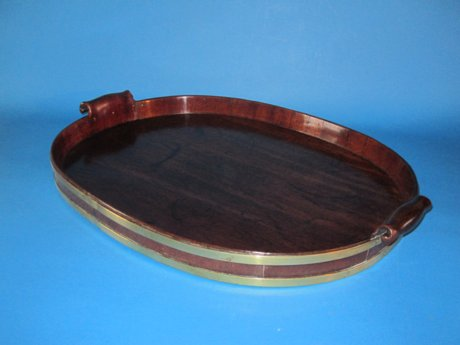 Georgian Mahogany brass bound tray, circa 1775 - Click to enlarge and for full details.