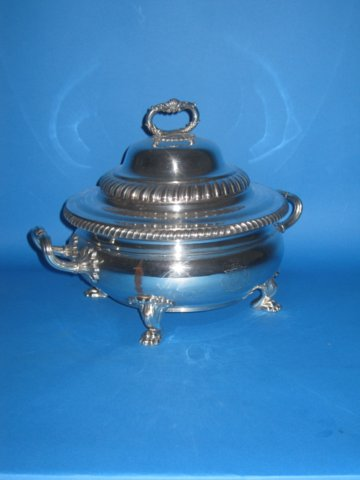 Old Sheffield Plate silver Tureen & Cover, circa 1810 - Click to enlarge and for full details.