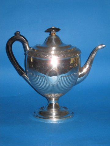 Old Sheffield Plate Silver Coffee pot, 1800-1808 - Click to enlarge and for full details.
