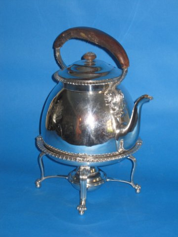 Regency period Kettle on stand with burner, circa 1825 - Click to enlarge and for full details.