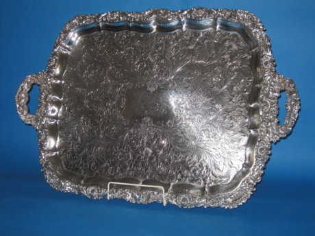 Regency Old Sheffield Plate Tea Tray, circa 1825 - Click to enlarge and for full details.