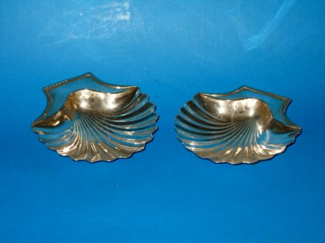 Pair of early 19th Century Butter Shells, circa 1815 - Click to enlarge and for full details.