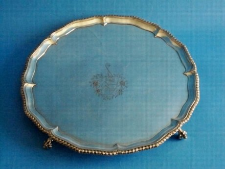 18th Century salver, circa 1770 - Click to enlarge and for full details.