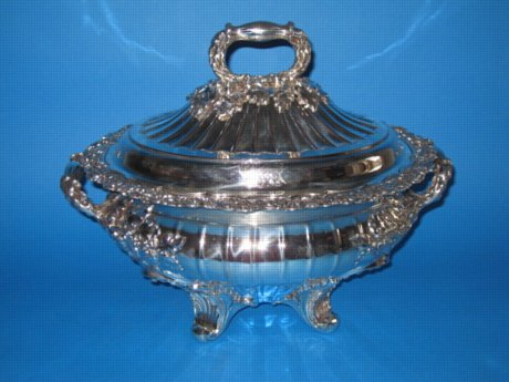 Superb Regency Soup Tureen & cover, circa 1825 - Click to enlarge and for full details.